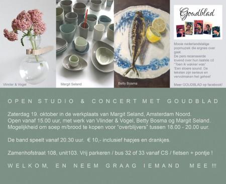 Open Studio met concert Goudblad